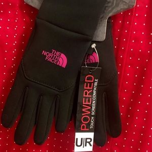 NWT The North Face e-tip gloves XS